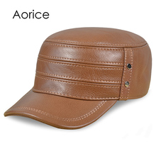 Aorice HL196 It's a new fashionable man's leather hat, a casual warm and a baseball cap, three colors to choose from(China)