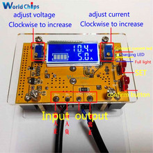 10A DC-DC Adjustable LCD Dual Display CC CV Step-down Power Supply Module Short Circuit Protection + Case DC-DC Boost Converter(China)