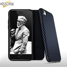 KISSCASE Retro Carbon Fiber Cover For iPhone 7 7 Plus 6 6S Plus Case Luxury Twill Skin TPU Shell For iPhone 5 5S SE Fundas Capa(China)
