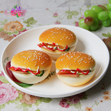 Simulation Toast bread Cheese bread Hamburgers high - grade light fruit photography props model Decoration decorative crafts