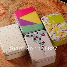 Free Shipping!4pcs/lot popular painting series Tin Storage box Collection Box Jewellery case hand made soap box