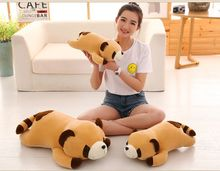 new arrival cartoon cute prone brown raccoon plush toy very soft throw pillow birthday gift h2729(China)
