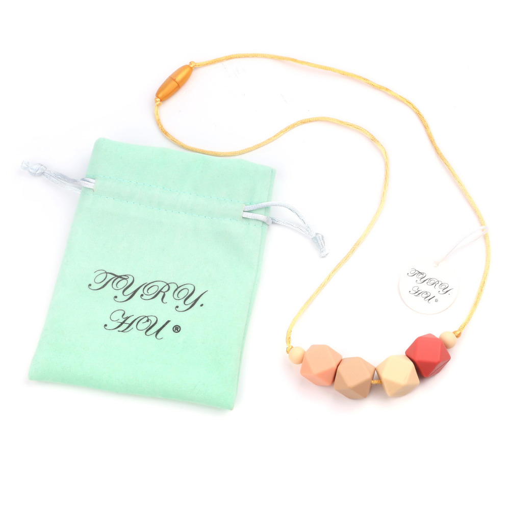 TYRY.HU Fashion Baby beads Necklace Teething Teether Paicifier Baby Nursing Teethers Kids Care Chawing Silicone BPA Free