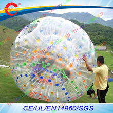 free air shipping to door,colorful buckle cheap inflatable body air zorb,human hamster zorb ball for water grass snow(China)
