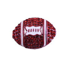 New Mixed Crystal Rugby Ball Snap Button Royal Red Rhinestones Sport Metal Ginger Snap Button Charm Jewelry For Bracelet