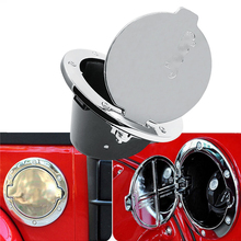 1PCS Silver ABS Aluminum Chrome Stainless Gas Fuel Filler Tank Cover Cap Door Cover For Jeep Wrangler 2007-2016 Free Shipping
