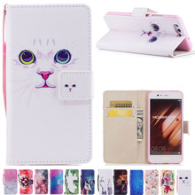 DAXING for huawei p10 Wallet Case For Huawei P10 Lite PU Leather Flip Phone Bag Cover For huawei p10 Plus Cases new cat pattern(China)