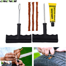 6Pcs/Set Car Tubeless Tire Tyre Puncture Plug Repair Tools Kits Car-Styling Auto Accessories Motorcycle Bicycle Rubber Cement