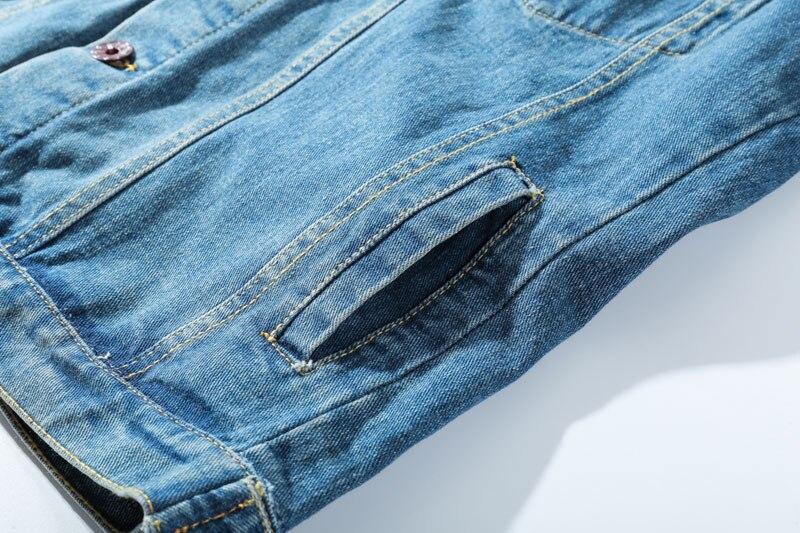 Ripped Hole Destroyed Denim Jackets 6
