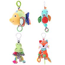 Buy Baby Toy Infant Cartoon Animal Fox Crocodile Hippocampus Fish Soft Rattles Kids Bed Crib Stroller Music Hanging Bell Plush Toy for $7.79 in AliExpress store