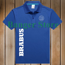 Women and men's  New Brand Summer Brabus car logo Polo Shirt Short-sleeved Fashion Casual Shirt
