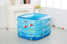 Buy Kiddie Pool Baby bath tub kid Inflatable child bathtub Thickening Portable Swimming ocean ball pool 120x105x75cm for $37.05 in AliExpress store