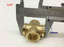 "Free Shipping 1/2"" copper Fittings for Water Pipe System, copper cross,"