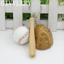 GIVVLLRRY Fashion Baseball Set Key Chain Personality Keychains Colorful Alloy PU Handmade Gift Bag Key Rings Friendship Jewelry