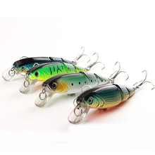 1 pack of 4pcs/lot 3 Segments Swimbait Fishing Minnow Lure 12cm/15g Hard Artificial Bait Hook Fishing Tackle