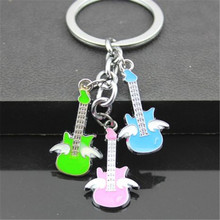 FD4225 new  Creative Angel Guitars Pendant Key Ring Key Chain Keychain String Gift