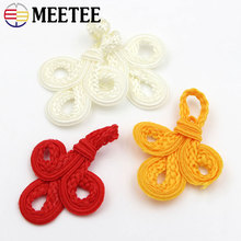 10pcs Real Sale Decorative Buttons High-grade Traditional Button Buttons Boutique Polyester Large Trefoil Buckle Dress Costume(China)