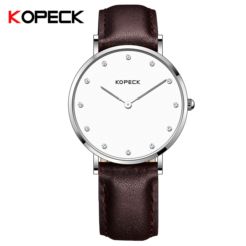 Kopeck Mens Watches Top Brand Luxury Famous Mens Business Casual Wrist Watch Male Clock Leather Quartz Simple Watch Man Tabelle<br>