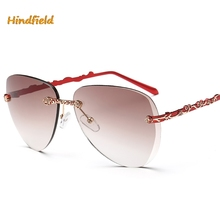 Hindfield Hot 2017 Classic Style Elegant Woman UV400 High Quality Fashion Trend Minimalist Sunglasses P937