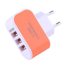 3 USB Port EU USB Charger Atapter Wall Home Travel AC Charger Adapter for iPhone 6 6s 6 plus 5 4 4S for Samsung for HTC Travel