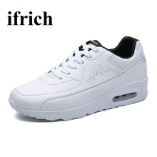 Ifrich Mens Trainers Top Brand Shoes Men Sport Spring Autumn Mens Athletic Shoes Running White/Black Footwear For Men