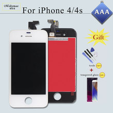 Mobymax AAA Pantalla Ecran Module for iPhone 4S 4 5 5S 6 LCD Display Touch Screen Digitizer Assembly Replacement Part+Free Gift(China)