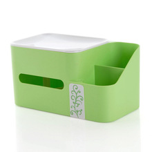 Creative ou can lift tissue boxes Home office multifunctional box(China)