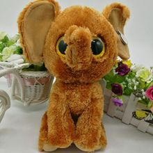 "BROWN Elephant TY BEANIE BOOS 1PC 25CM 10"" BIG EYEPlush Toys Stuffed animals KIDS TOYS VALENTINE GIFT children toy gift"