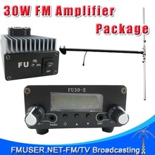FMUSER FU-30A 30W FM transmitter amplifier+0.2w FM exciter+1/2 wave DIPOLE antenna KIT 85~110mhz
