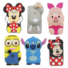 3D Cartoon Pink Pig Stitch Minnie Soft Rubber Silicon Case Cover for Apple iPhone6 4S 5 5S 6 6S Plus 7 7Plus Lovely Pikachu Case