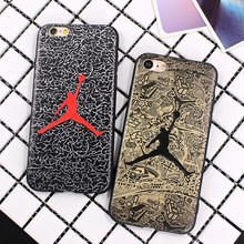 Air Jordan Silicone Slim Back Cover for iPhone 6 6s 7 5S Skin NBA Soft Phone Case For iphone 7 Plus 6 6S Plus Shell Bags Fundas