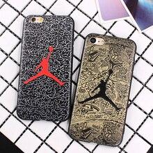 Air Jordan Silicone Slim Back Cover iPhone 6 6s 7 5S Skin NBA Soft Phone Case iphone 7 Plus 6 6S Plus Shell Bags Fundas