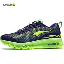 ONEMIX 2017 Free 1120 Plastic drop wholesale Training Running Shoes Sport Men's Air cushion Sneaker Athletic outdoor for jogging(China)
