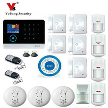 YobangSecurity WiFi GSM GPRS RFID Burglar Alarm House Surveillance Home Security System With Smoke Pet Friendly Immune Detector