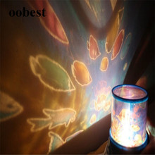 Oobest Room Novelty Night Light abajur Projector Lamp Rotary Flashing Starry Star Moon Sky Star Projector Kids Children Baby