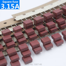 10Pcs/Lot , Square Fuse 3.15A/250V 392 Square Plastic Fuse T3.15A For LCD TV Power Board Commonly Protection Circuit