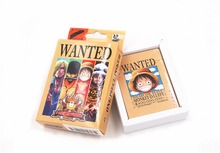 Anime One Piece POP Wanted Dead Or Alive Playing Card Deck Poker Toy Gift New in Box