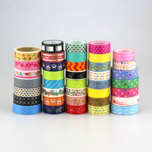 2X 15mm Tape mix different designs by random Print Scrapbooking DIY Sticker Decorative MaskingJapanese Paper Washi Tape