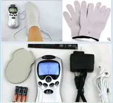 Electrical Silver Fiber Therapy Tens Acupuncture digital machine massager electronic pulse +1 Gloves +1 Socks +10 Electrode pads
