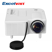 Excelvan UC28 Mini  Pico Projector Home Cinema Theater Digital LED LCD Projector VGA/USB/SD/AV/HDMI Multimedia Proyector