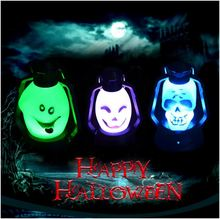 Halloween LED multicolored skull hand lantern night light costume party dress for kids indoor outdoor decoration for home yard