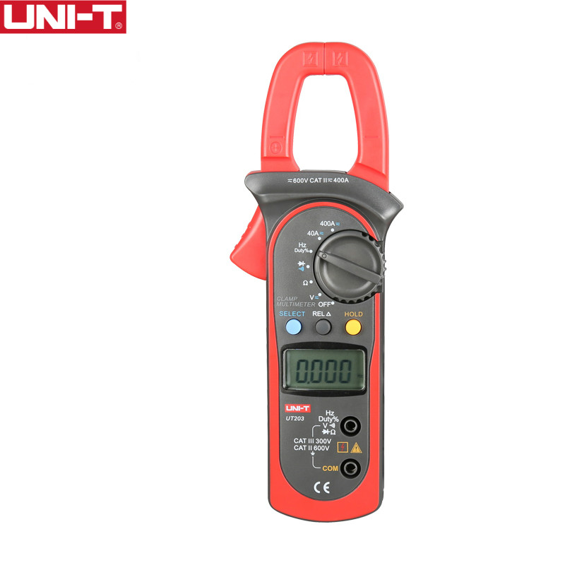 UNI-T UT203 400-600A Ditgital Clamp Meters Auto Range Kaw Capacity 28mm Continuity Buzzer Freeshipping <br>