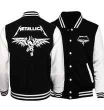 2017 Spring Rock Band Metallica Jacket Men Streetwear Unique Battery I am 100% & Help Me Funny Men Coat Baseball Uniform Jackets