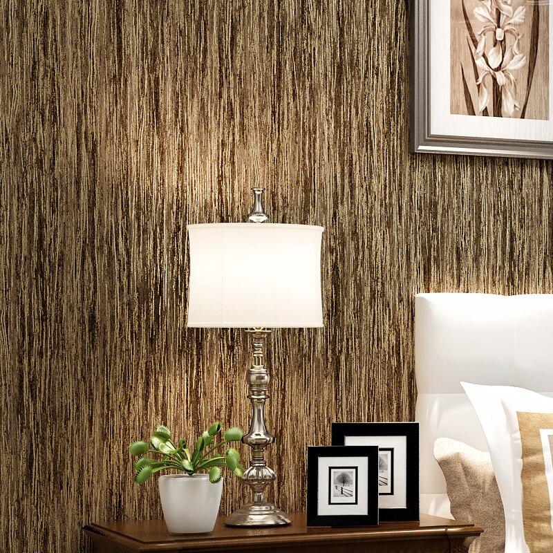 Modern minimalist pure color background wallpaper simulation wood grain study bedroom bedroom non - woven wallpaper<br><br>Aliexpress