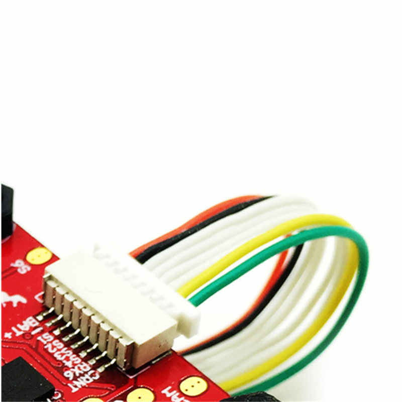 hglrc 8 pin silicone wire 53mm multirotor spare part connector for brushless  esc flight controller rc