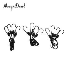 MagiDeal 6Pcs 47cm 60cm & 76cm Elastic Bungee Cord With Hook Widely Applications for Bundles Camping Bike Cargo Racks Household