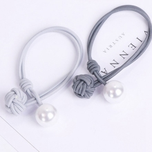 New Korean Women Hair Accessories Ladies Elastic Hair Rubber Bands Luxury Pearl Pendent Tie Gum Girls Ponytail Holder Ornament