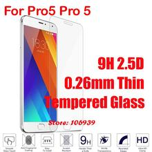 Cheap Anti-Explosion 9H Hardness 2.5D 0.26mm Phone Accesories Accessories Glass Screen Protector For Meizu Pro5 Pro 5