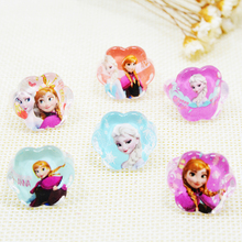 Wholesale Accessories China 100pcs anillo Lovely Child Kids Girls Princess Elsa Anna Cartoon anel Rings Party Supplies Gift(China)