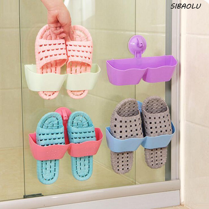 1 Pcs/set Bathroom Accessories Strong Organizers Suction Cup Shoes Rack Storage Rack Wall Hanging Shoes Storage Sitting Room(China (Mainland))